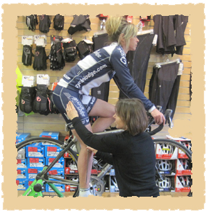Cycle Lodge: Beth Fitting a Rider